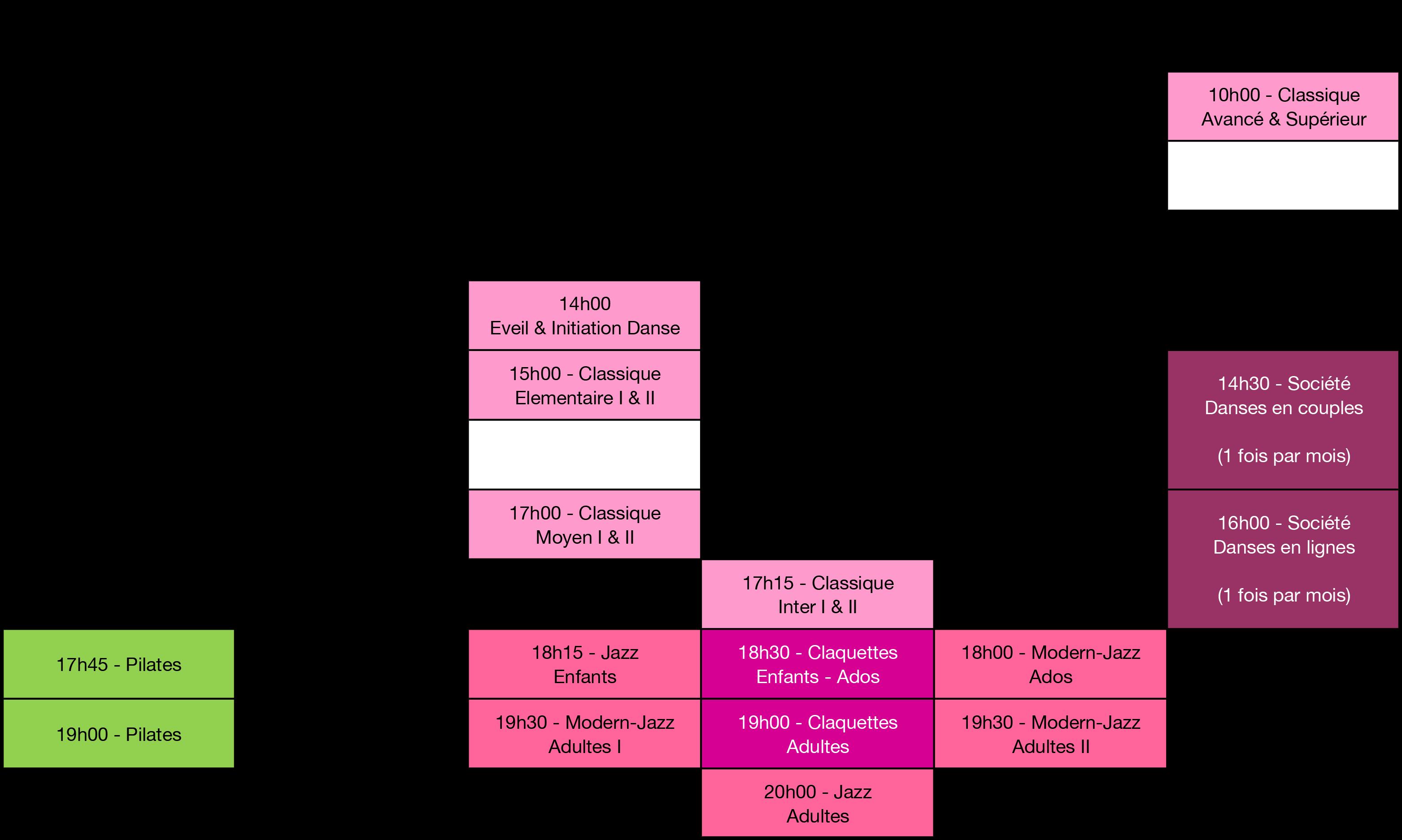 Planning de l'école d'Argentan 2017/2018