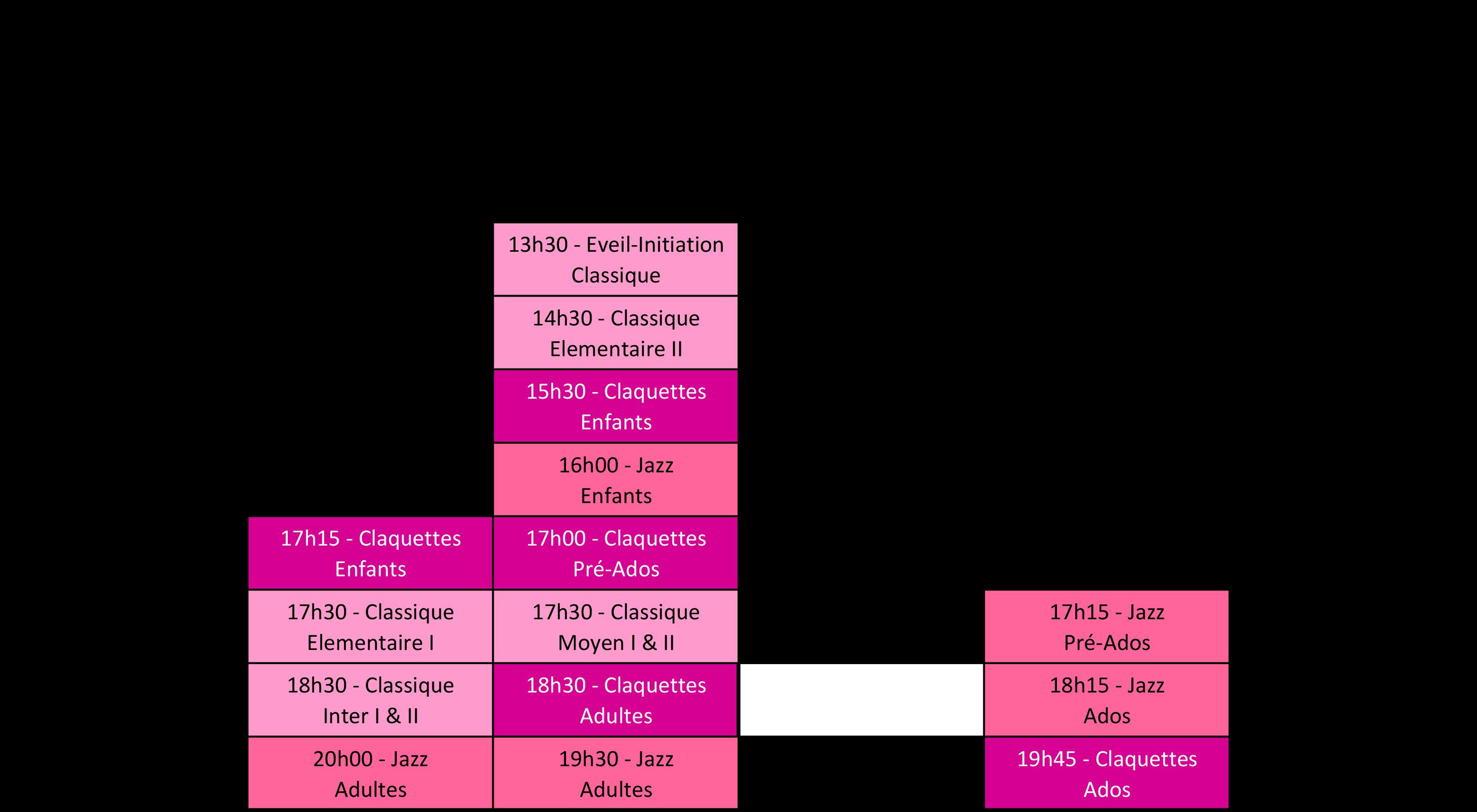 Planning de l'école de Flers 2017/2018